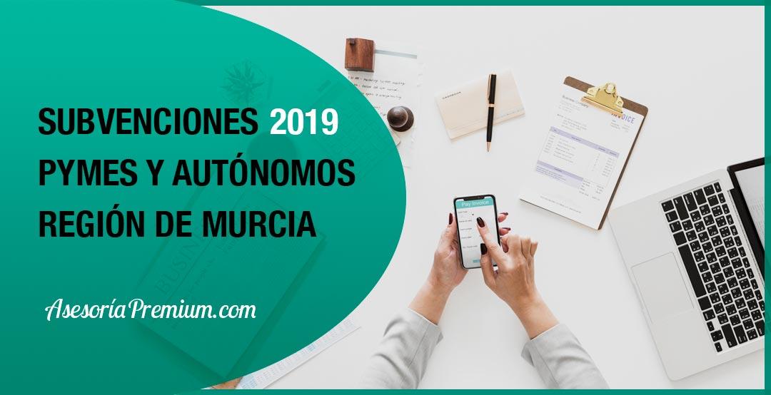 subvenciones pymes y autonomos en la region de murcia año 2019